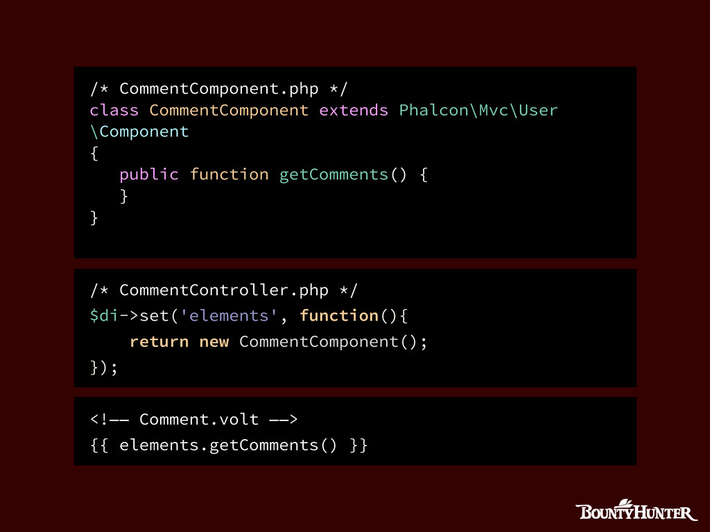 /* CommentComponent.php */ class CommentCompone...