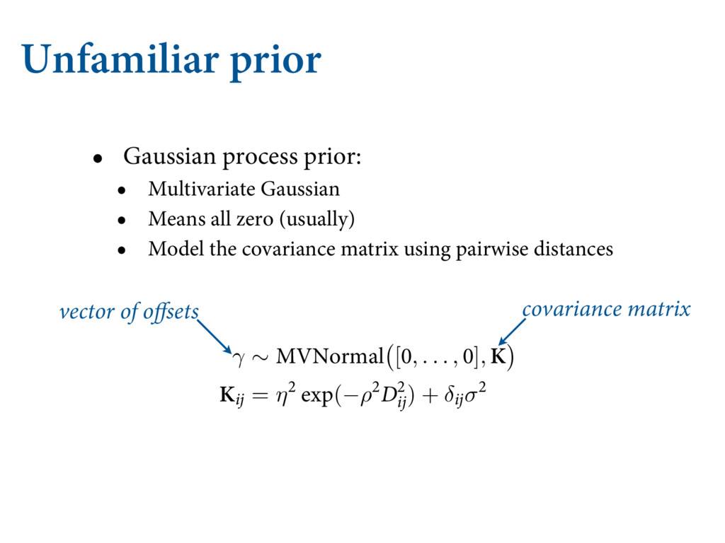 Unfamiliar prior • Gaussian process prior: • Mu...