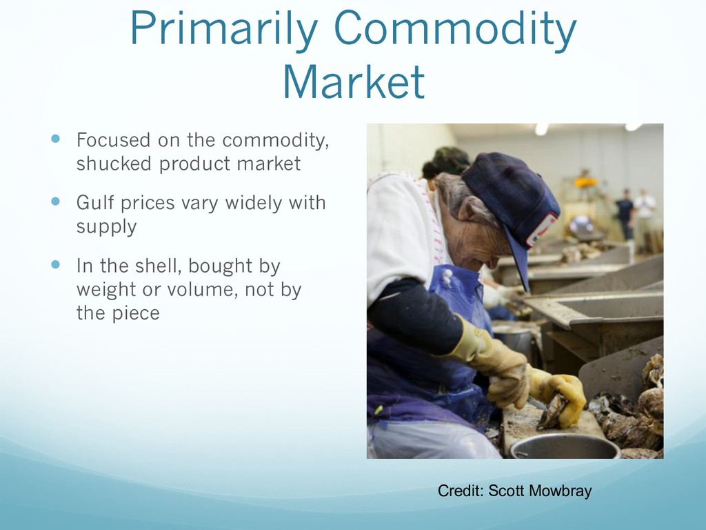 Primarily Commodity Market — Focused on the com...