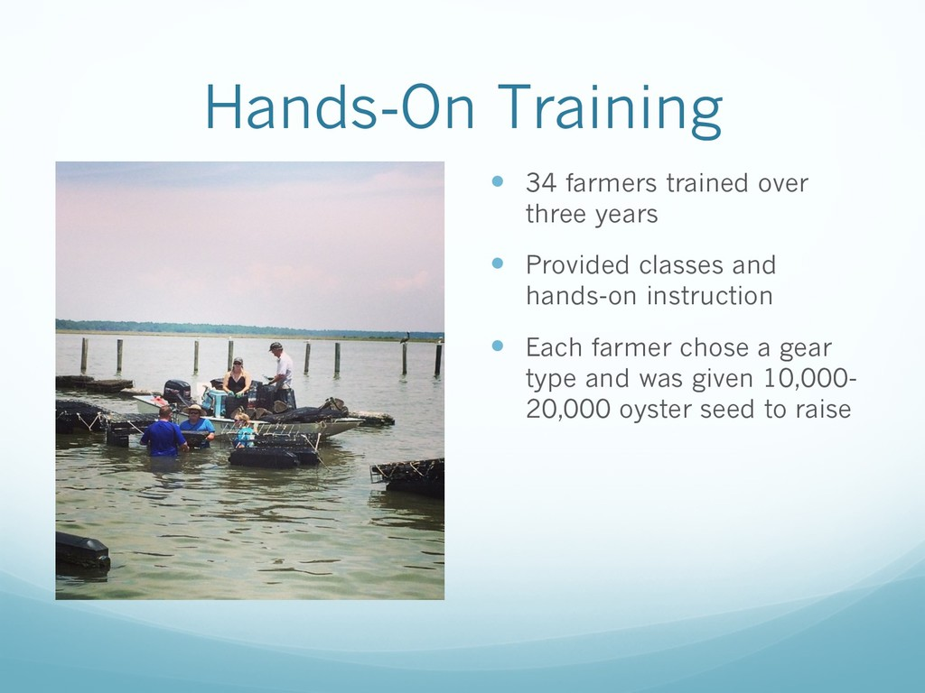 Hands-On Training — 34 farmers trained over thr...