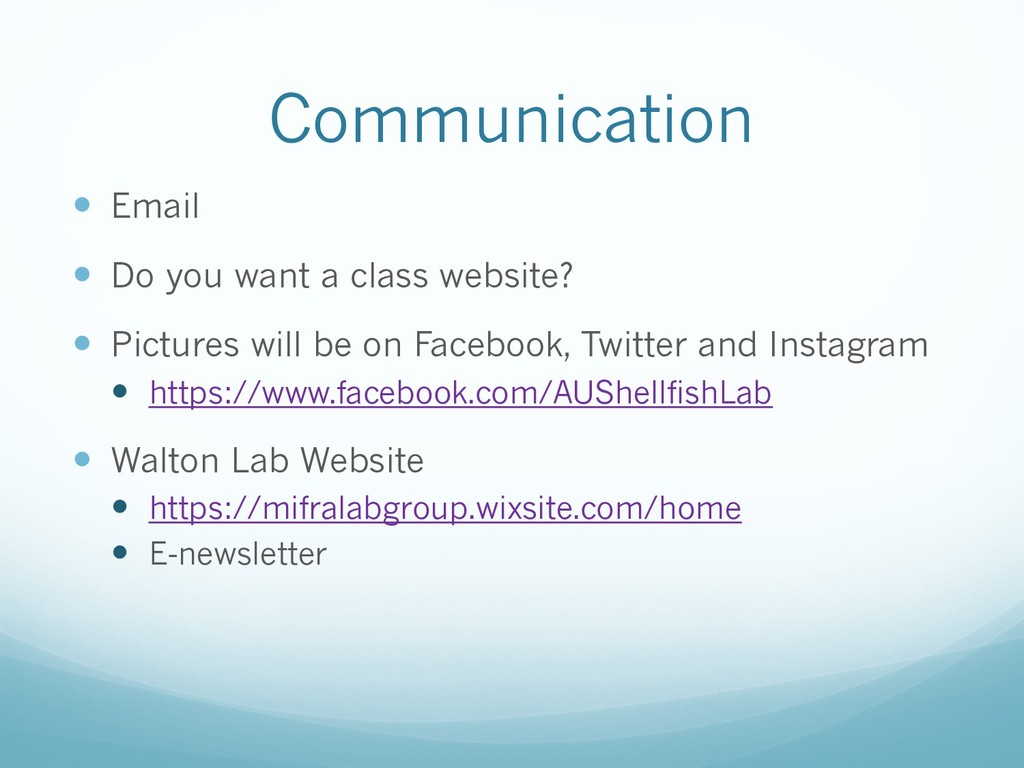Communication — Email — Do you want a class web...