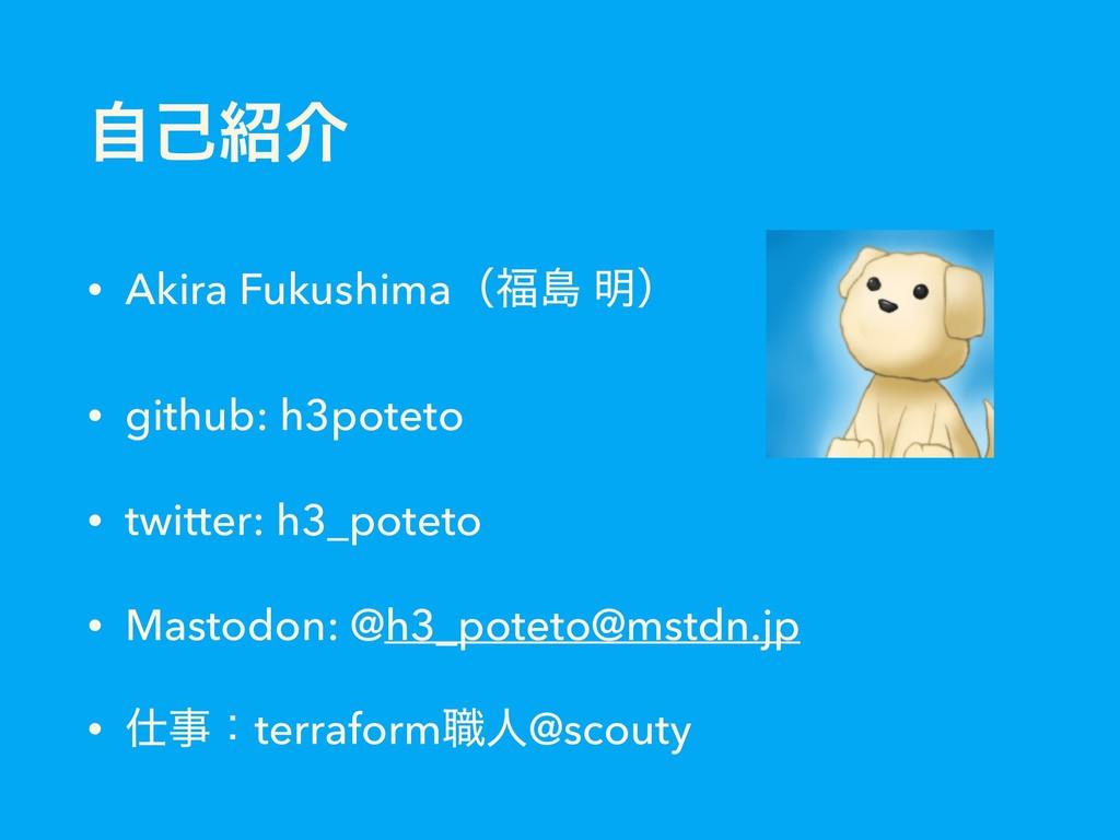 ࣗݾհ • Akira Fukushimaʢౡ ໌ʣ • github: h3poteto...