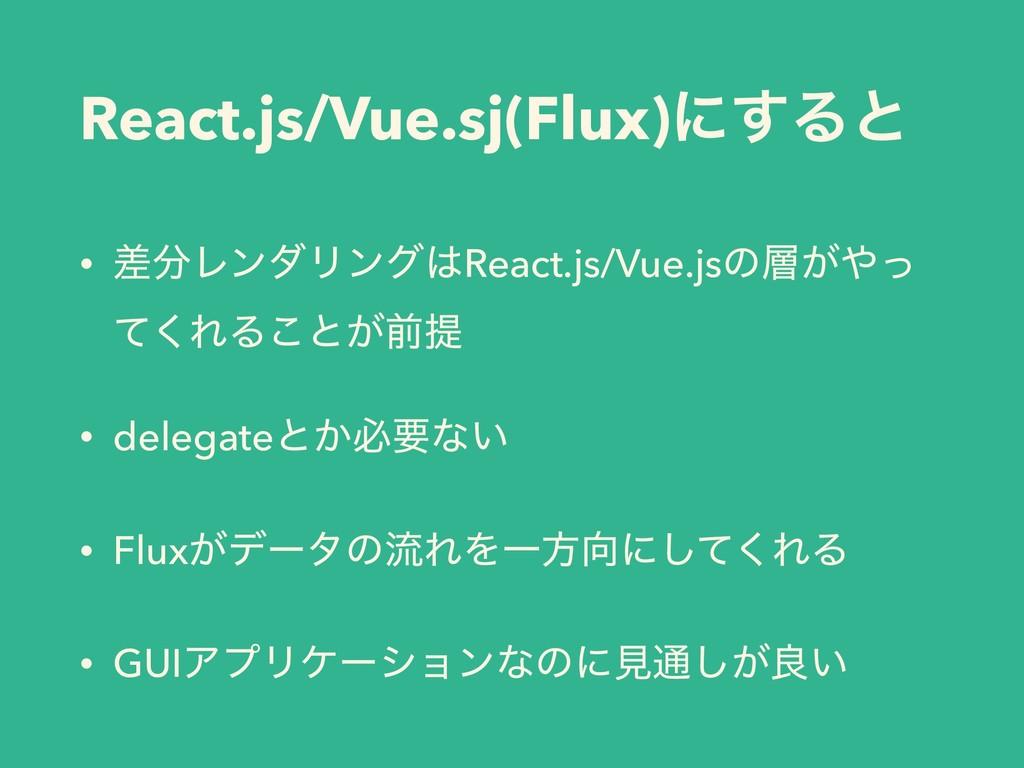 React.js/Vue.sj(Flux)ʹ͢Δͱ • ࠩϨϯμϦϯάReact.js/V...