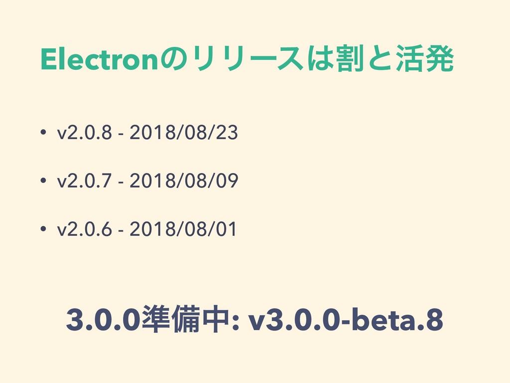 ElectronͷϦϦʔεׂͱ׆ൃ • v2.0.8 - 2018/08/23 • v2.0...