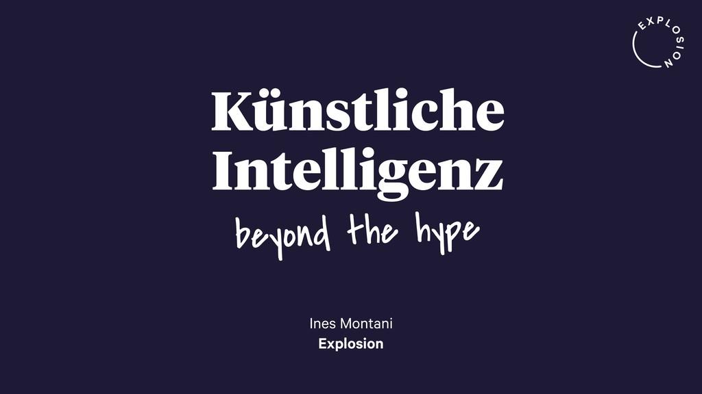 Künstliche Intelligenz Ines Montani Explosion b...