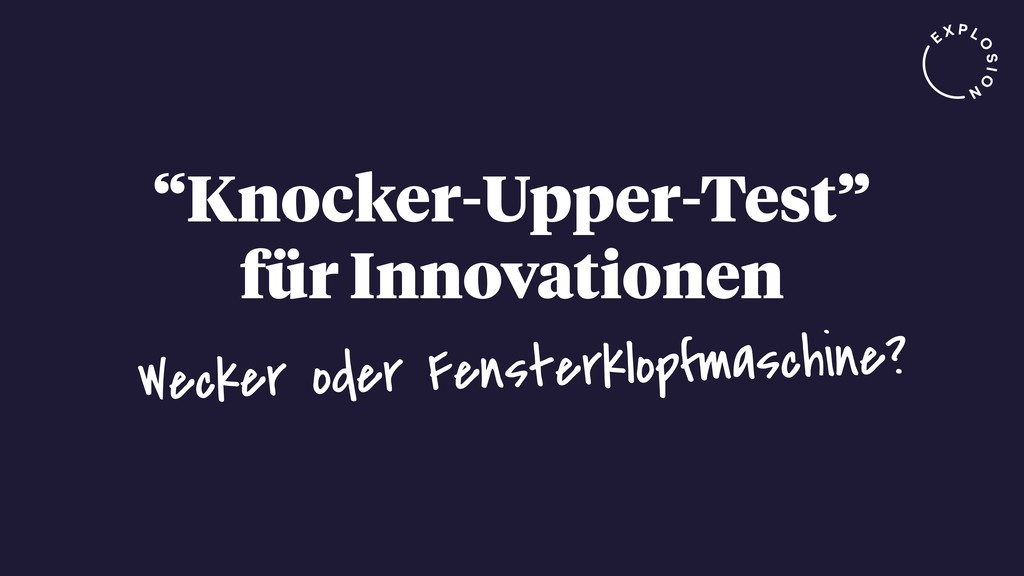 """Knocker-Upper-Test"" für Innovationen Wecker od..."