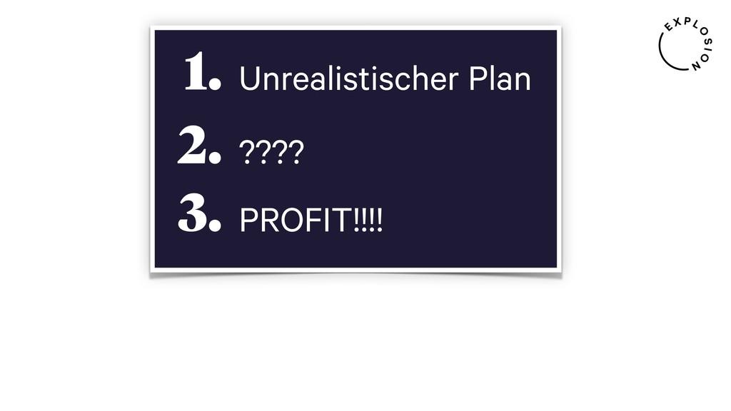 Unrealistischer Plan 1. ???? 2. PROFIT!!!! 3.