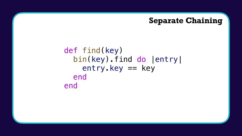 def find(key) bin(key).find do |entry| entry.ke...