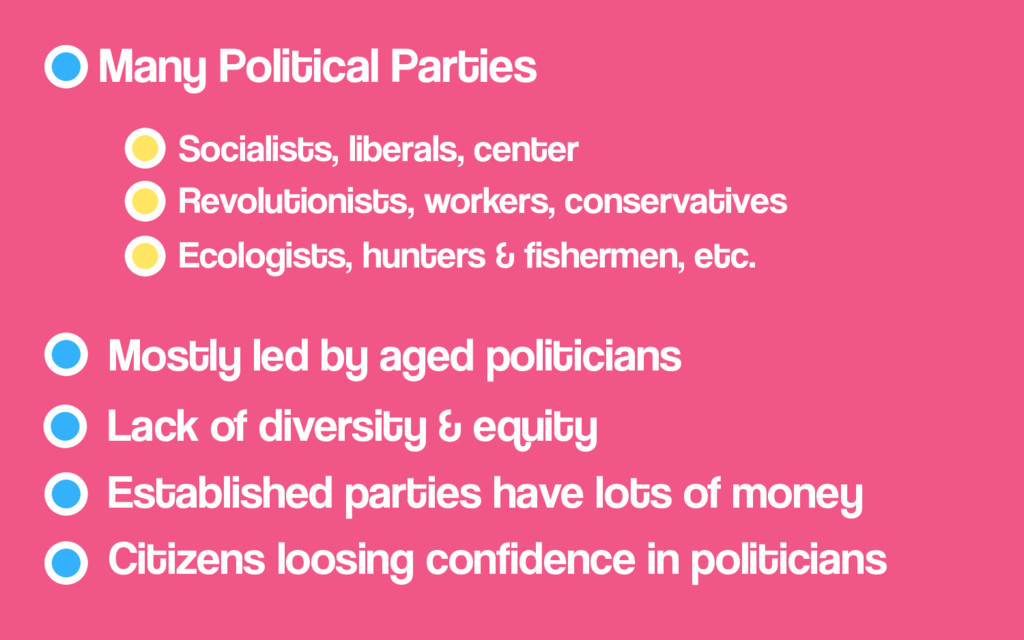 Socialists, liberals, center Many Political Par...