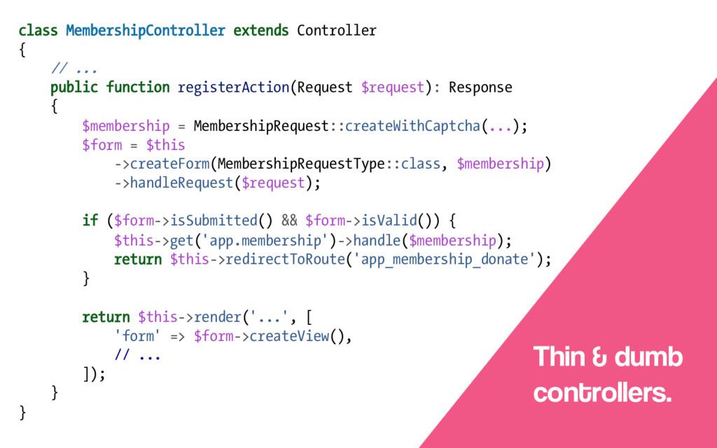 class MembershipController extends Controller {...