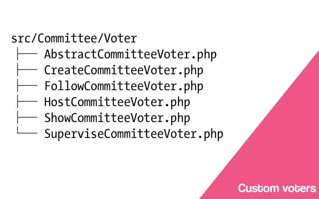 Service Layer Custom voters src/Committee/Voter...