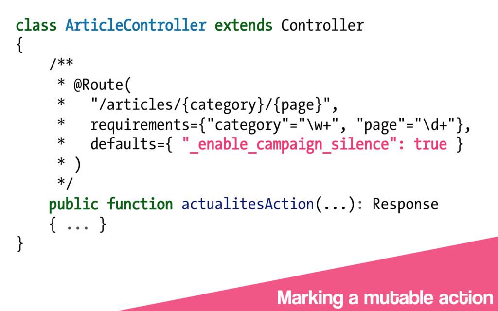 class ArticleController extends Controller { /*...