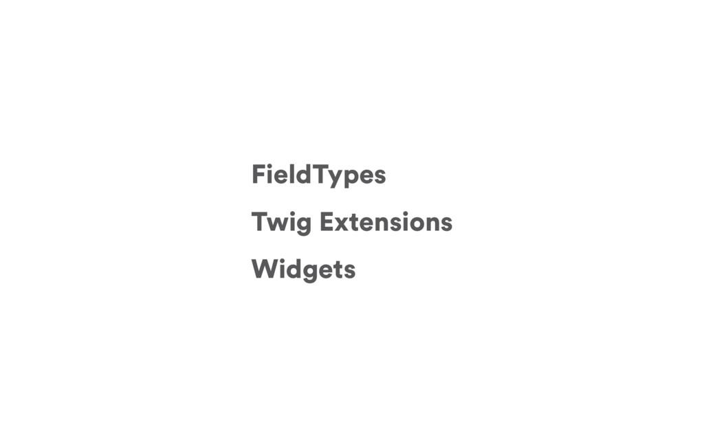 FieldTypes Twig Extensions Widgets