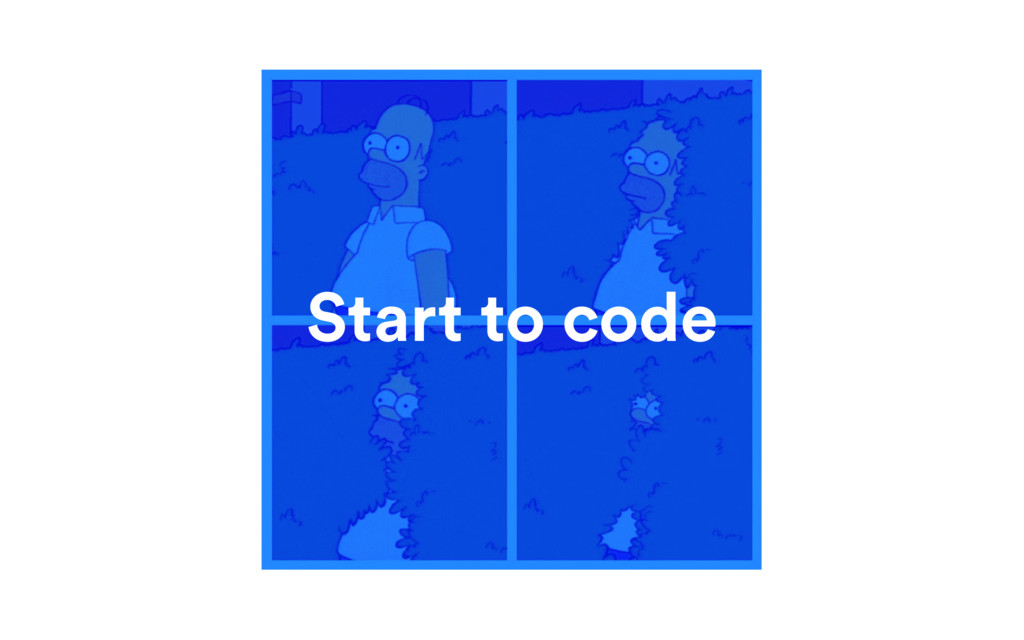 Start to code