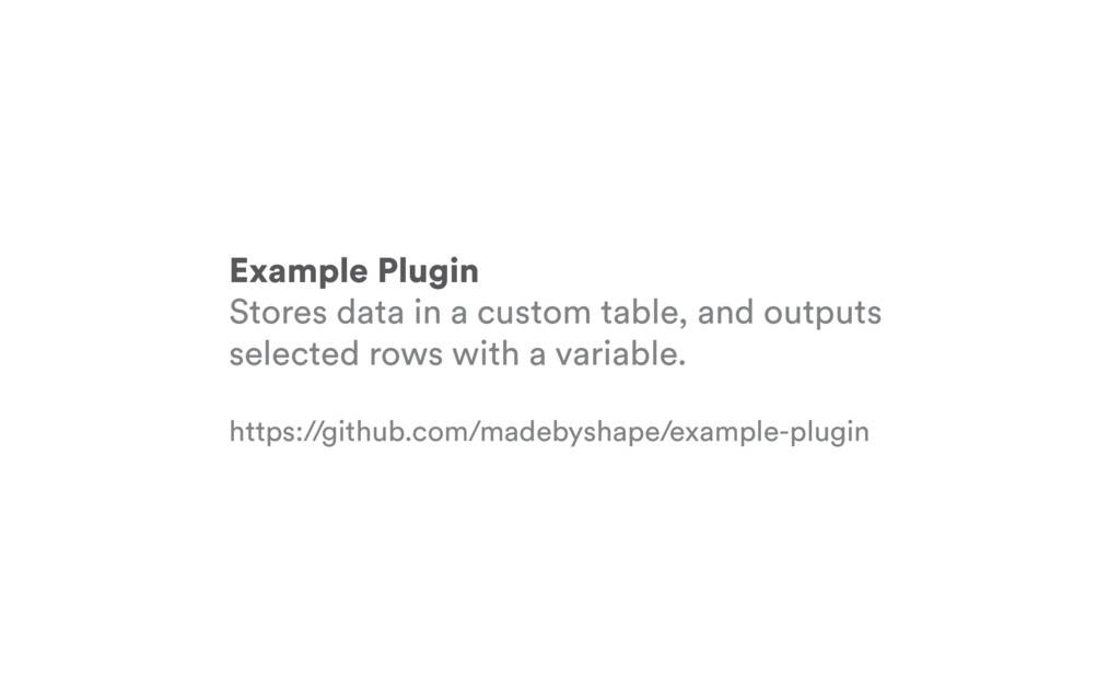 Example Plugin Stores data in a custom table, a...