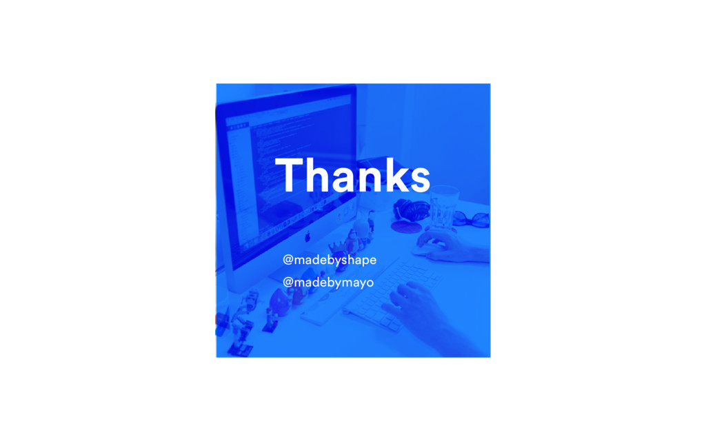 Thanks @madebyshape @madebymayo
