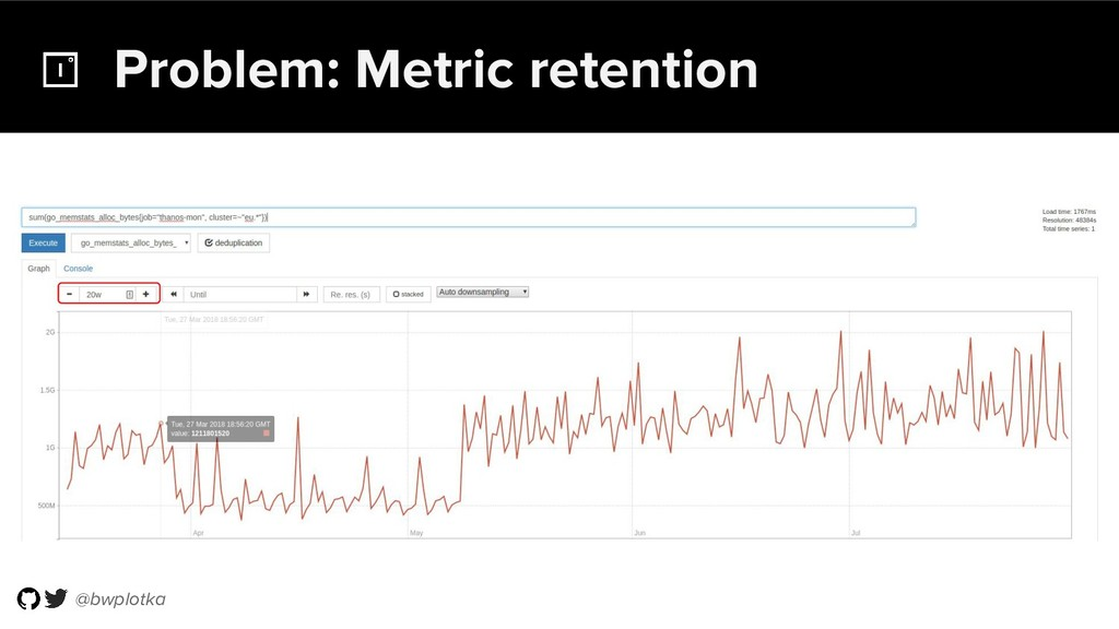 @bwplotka Problem: Metric retention