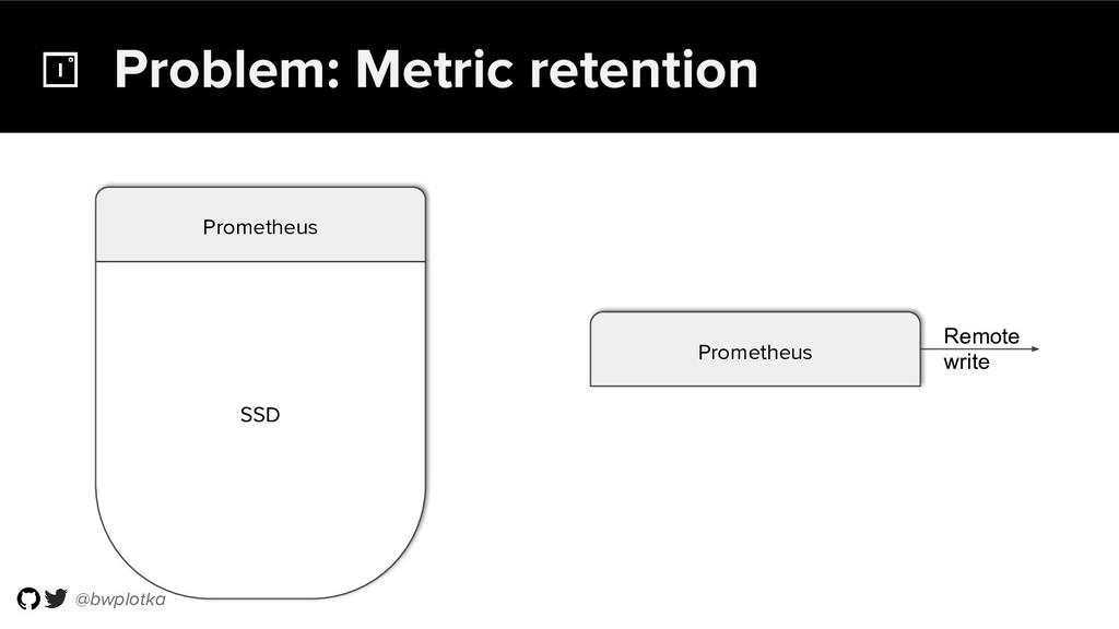 @bwplotka Problem: Metric retention SSD Prometh...