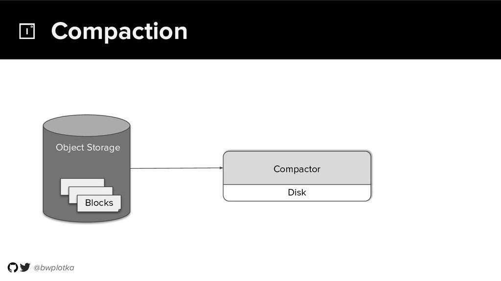 @bwplotka Compaction Object Storage Blocks Disk...