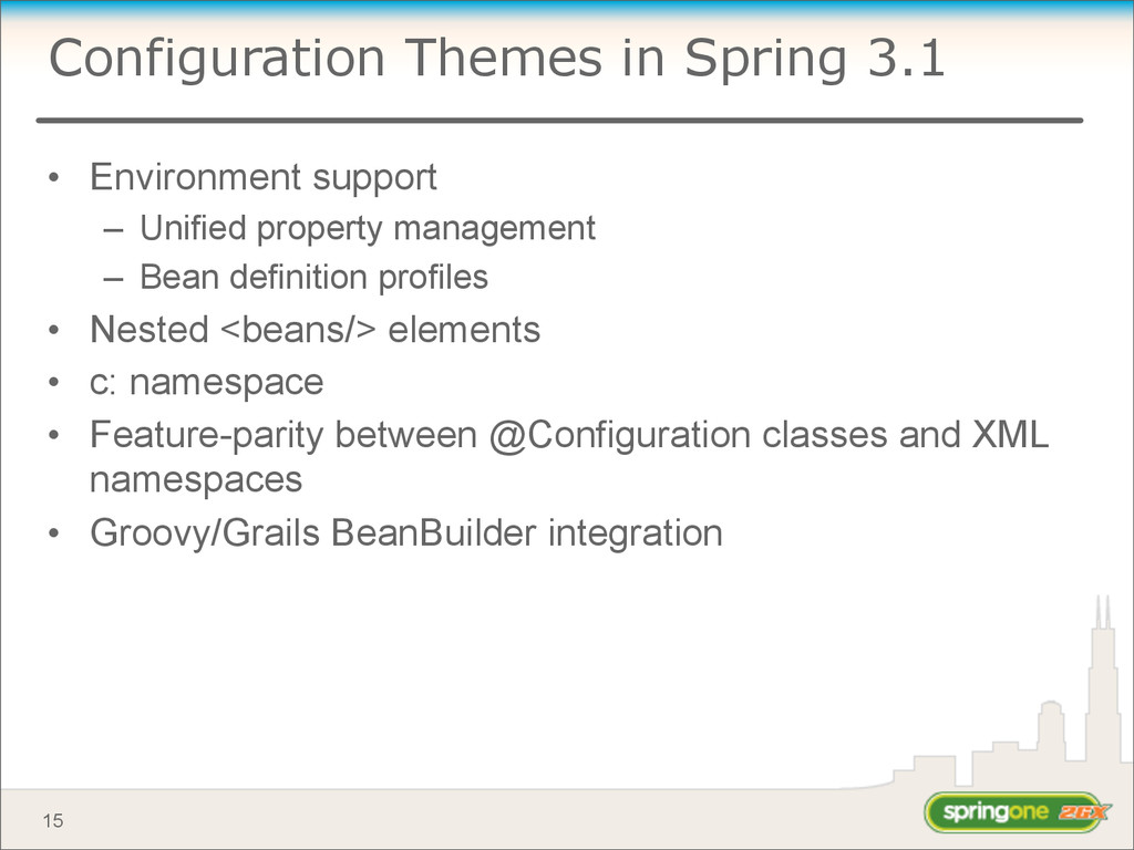 Configuration Themes in Spring 3.1 • Environmen...
