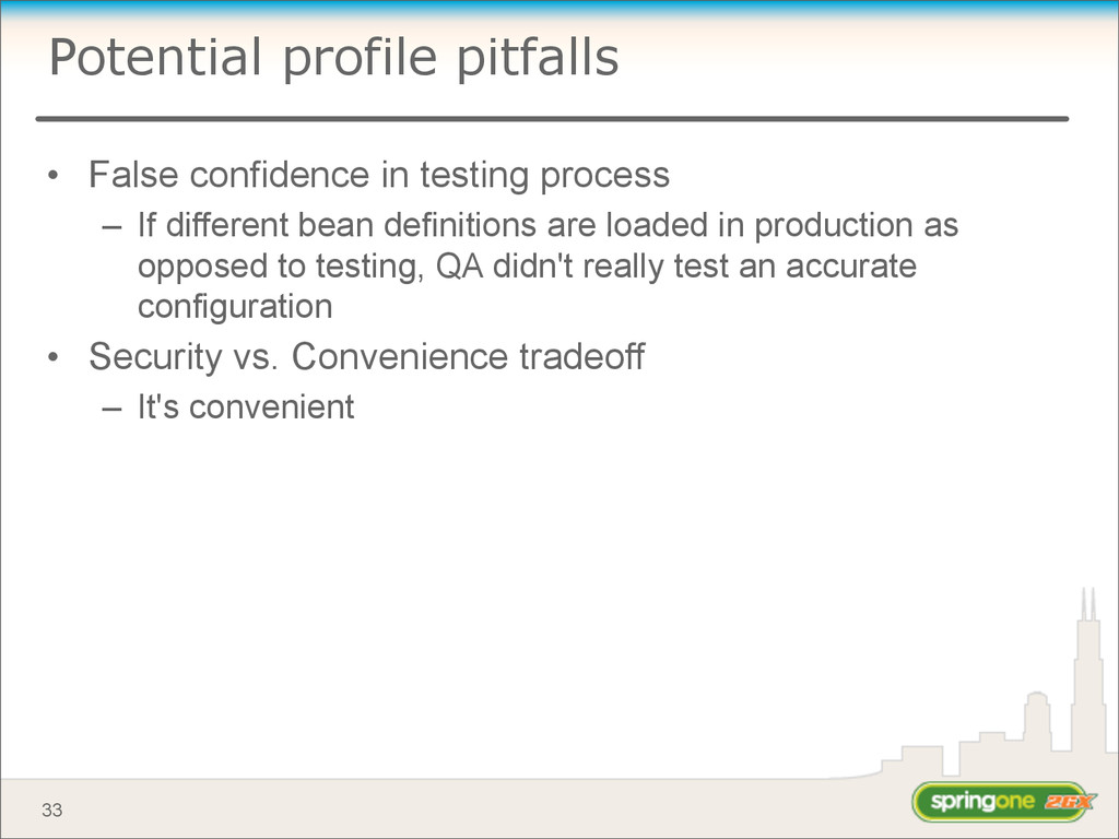Potential profile pitfalls • False confidence i...