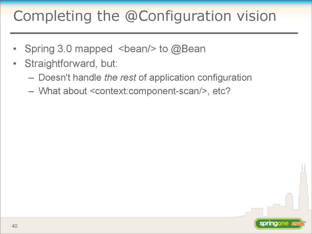 Completing the @Configuration vision • Spring 3...