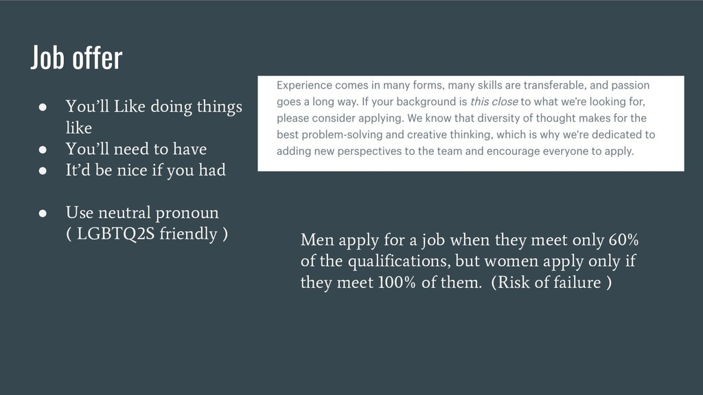 Job offer ● You'll Like doing things like ● You...