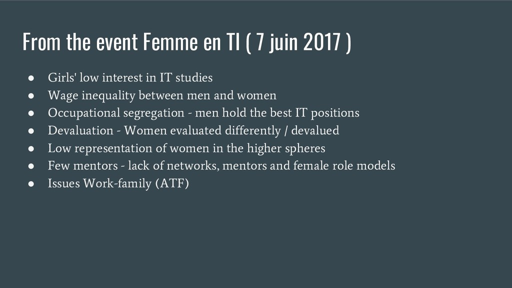 From the event Femme en TI ( 7 juin 2017 ) ● Gi...