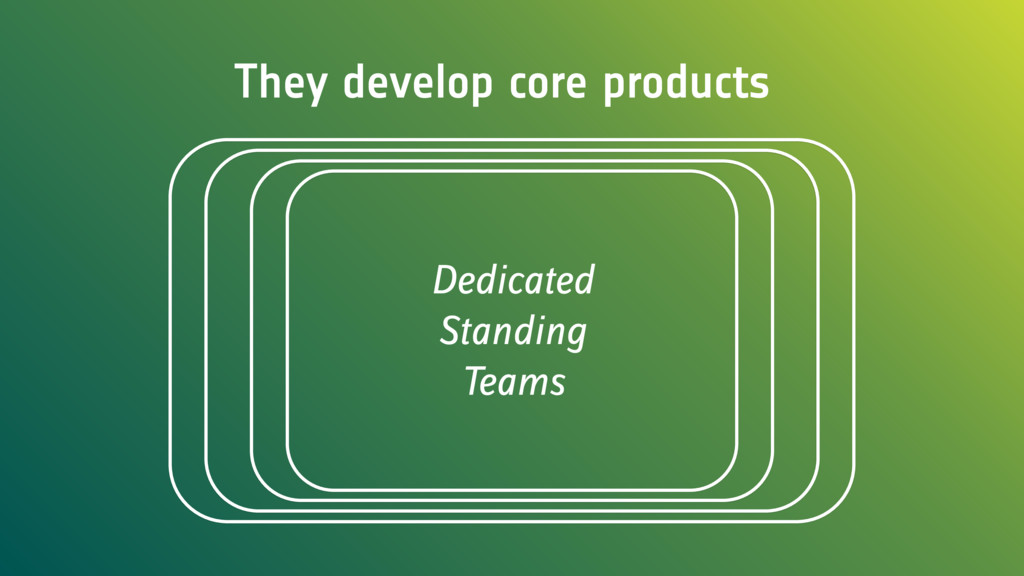 They develop core products Dedicated Standing T...