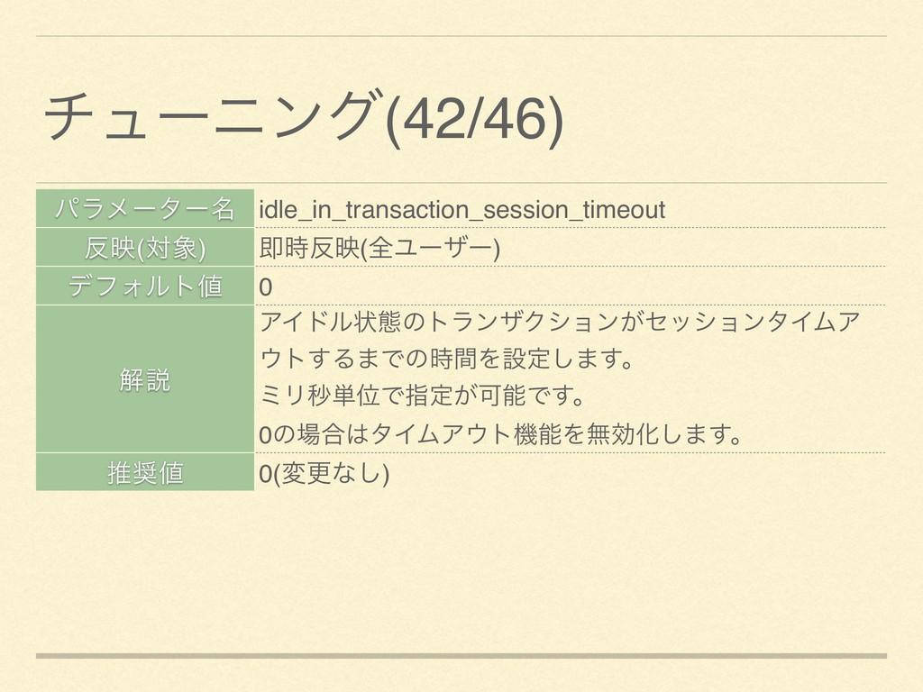 ύϥϝʔλʔ໊ idle_in_transaction_session_timeout ө(...