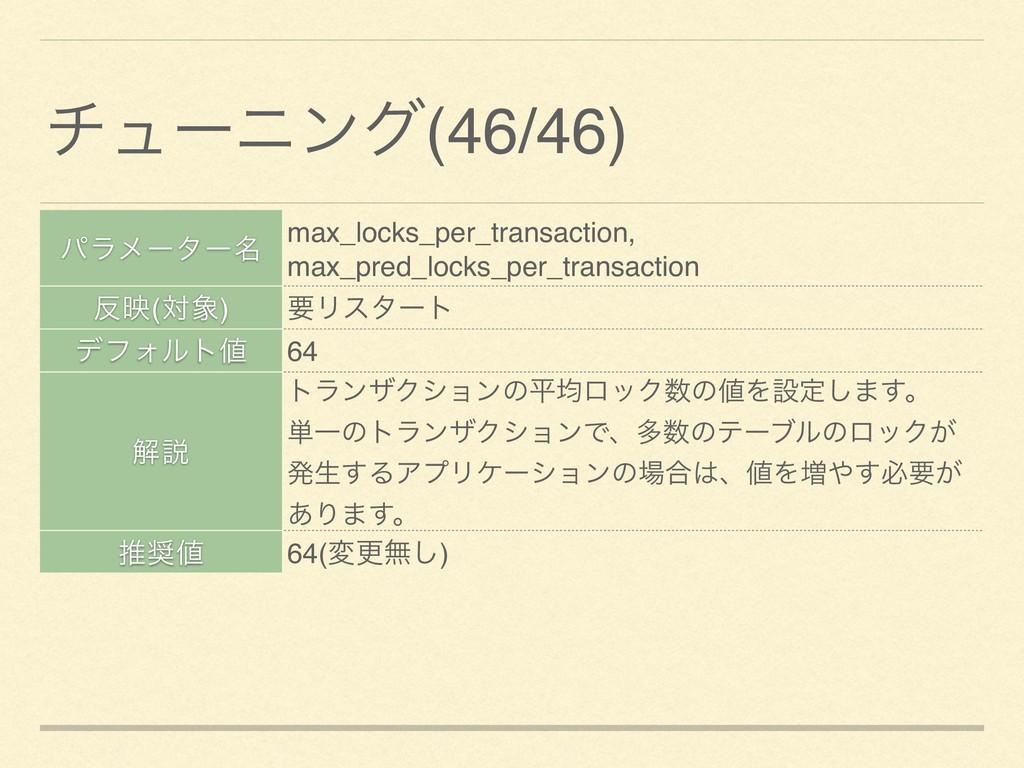 ύϥϝʔλʔ໊ max_locks_per_transaction, max_pred_loc...