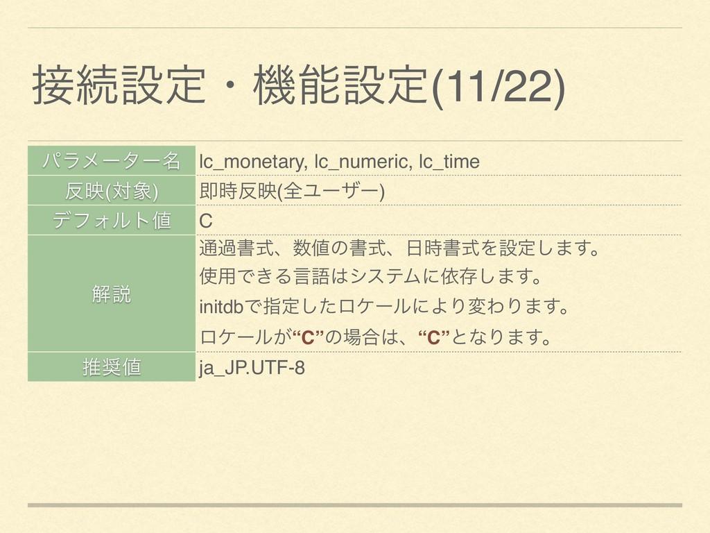 ଓઃఆɾػઃఆ(11/22) ύϥϝʔλʔ໊ lc_monetary, lc_numeri...