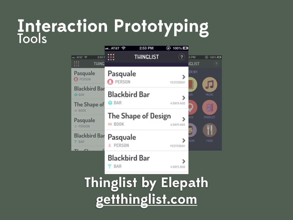 Thinglist by Elepath getthinglist.com Interacti...