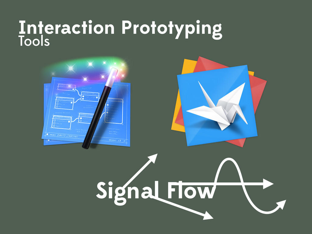 Interaction Prototyping Tools Signal Flow