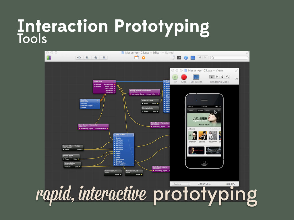 rapid, interactive prototyping Interaction Prot...