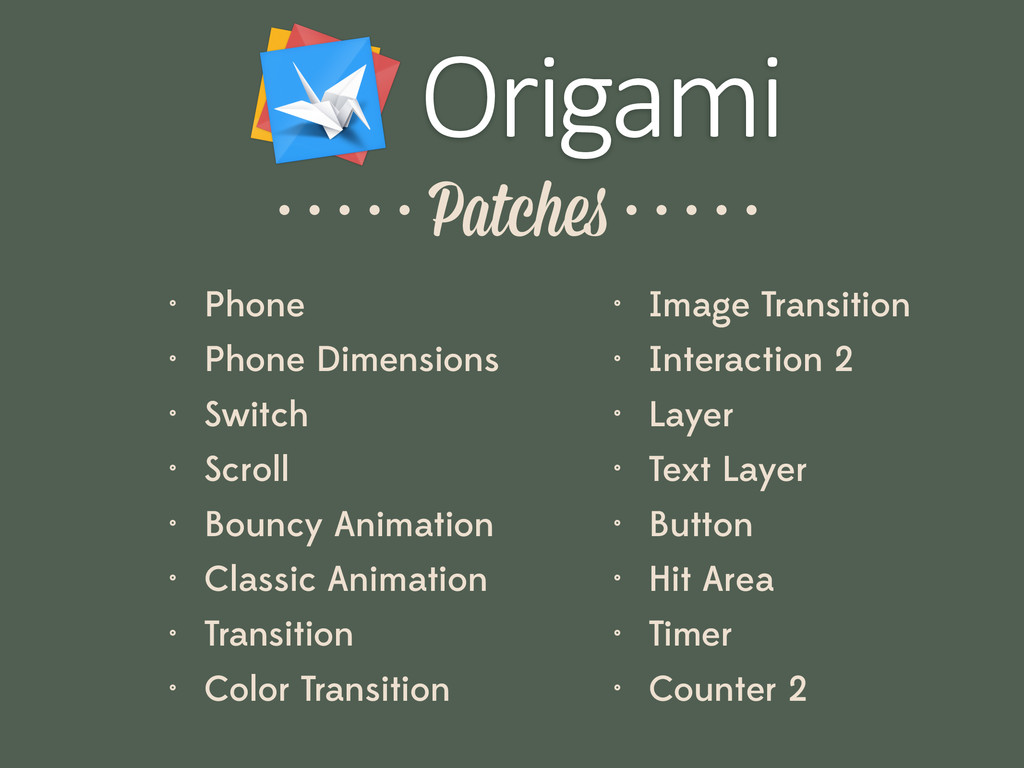 Origami • Phone • Phone Dimensions • Switch • S...