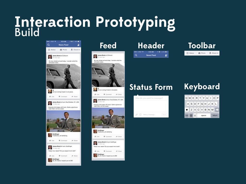 Feed Header Toolbar Interaction Prototyping Bui...