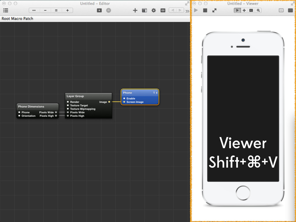 Viewer Shift+⌘+V