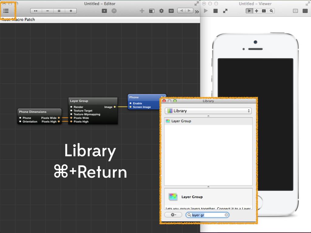 Library ⌘+Return
