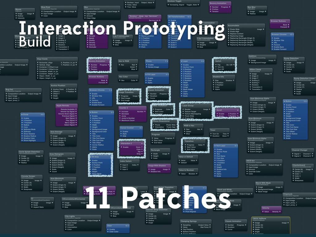 Interaction Prototyping Build 11 Patches