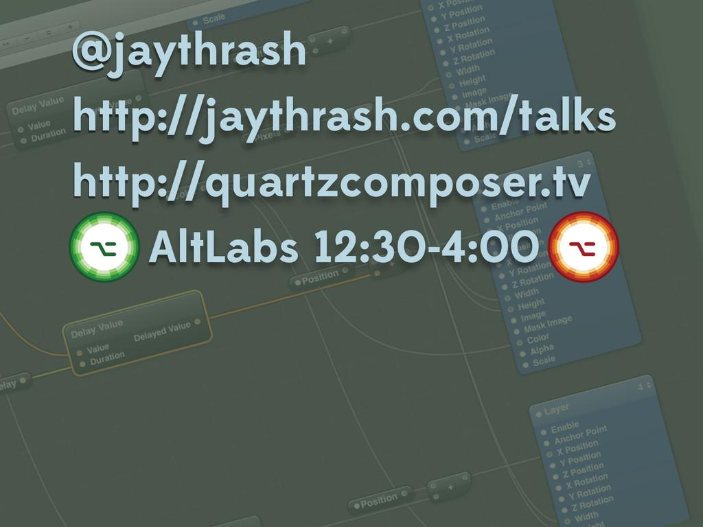 @jaythrash http://jaythrash.com/talks http://qu...