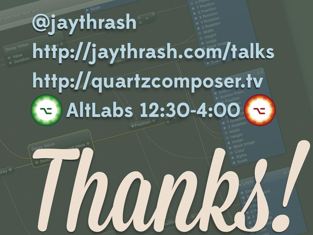 Thanks! @jaythrash http://jaythrash.com/talks h...