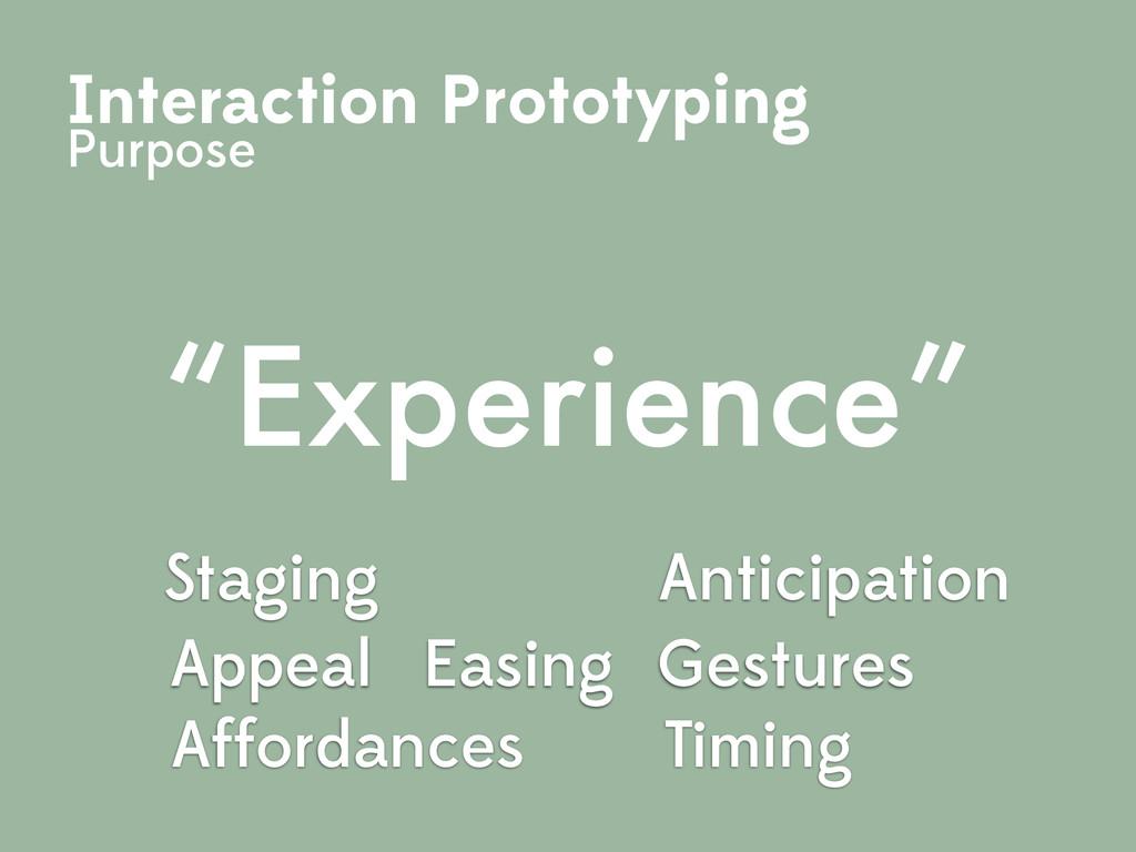 Gestures Easing Affordances Anticipation Timing...