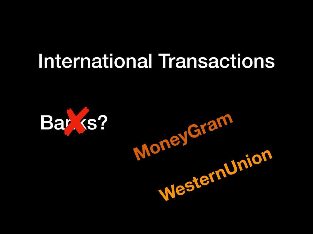 International Transactions Banks? ✘ MoneyGram W...