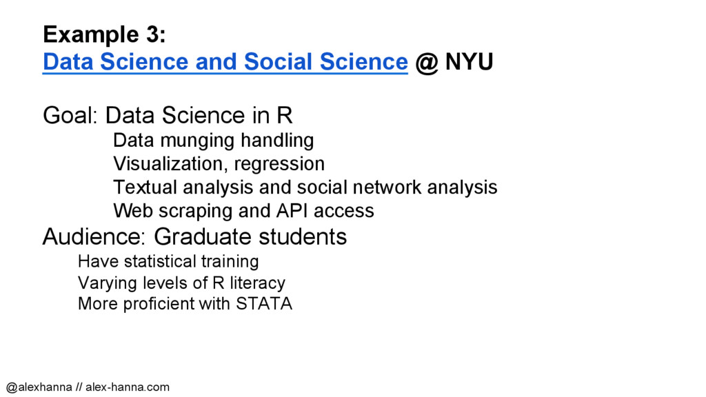 Example 3: Data Science and Social Science @ NY...