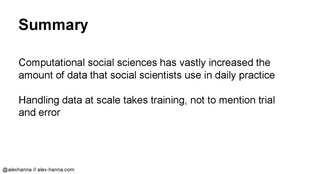 Summary Computational social sciences has vastl...
