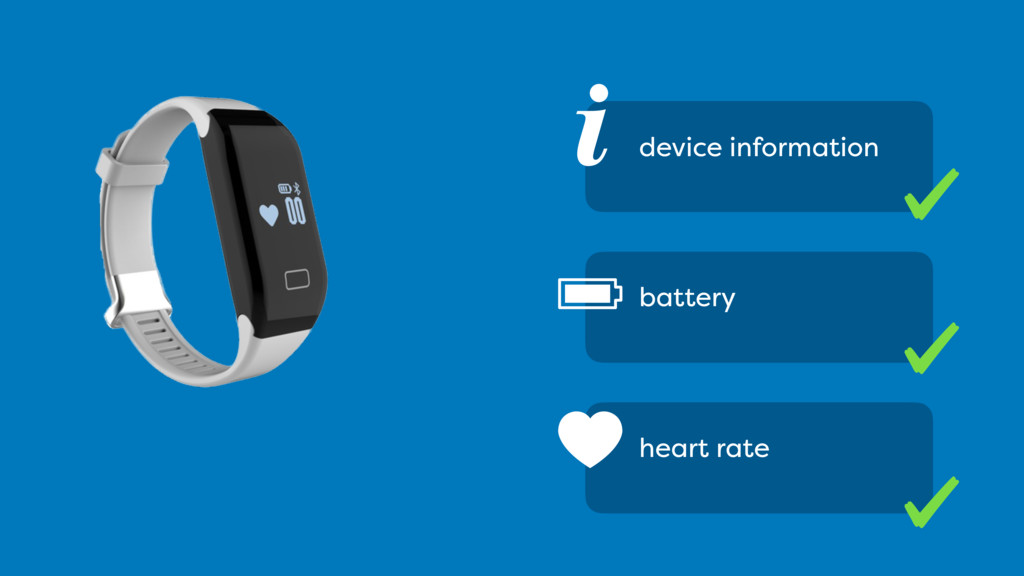 i device information battery heart rate