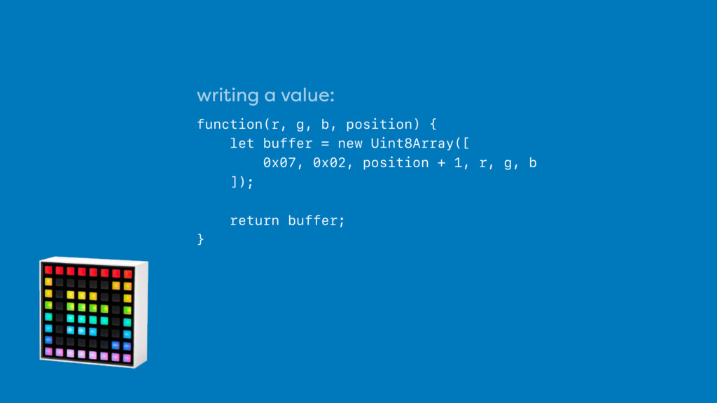 writing a value: 