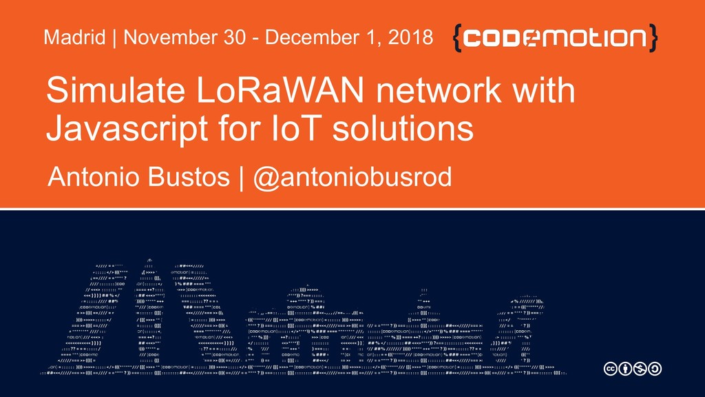 Simulate LoRaWAN network with Javascript for Io...