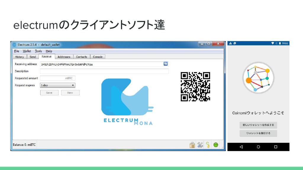 electrumのクライアントソフト達
